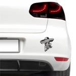 Auto nálepka - Mexická lebka
