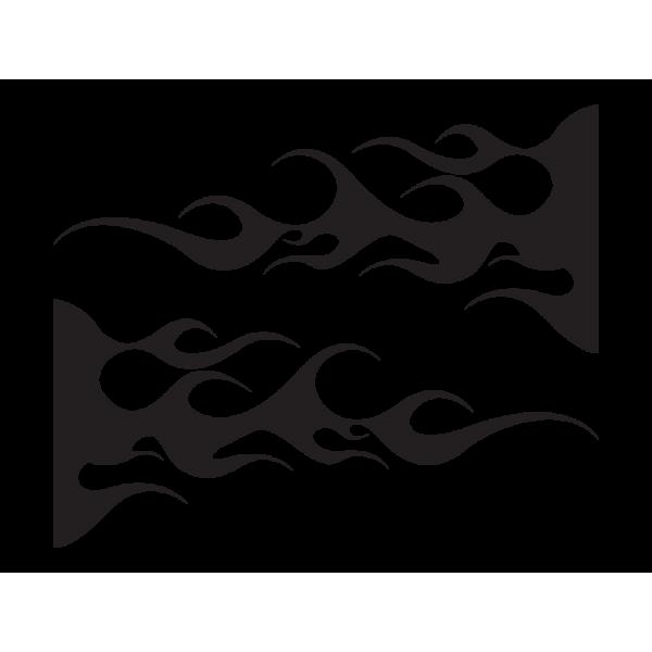 Auto nálepka - Plamene, Tmavo-fialová (A1588)