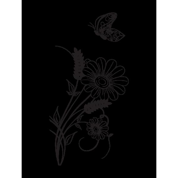Auto nálepka - Divoké kvety