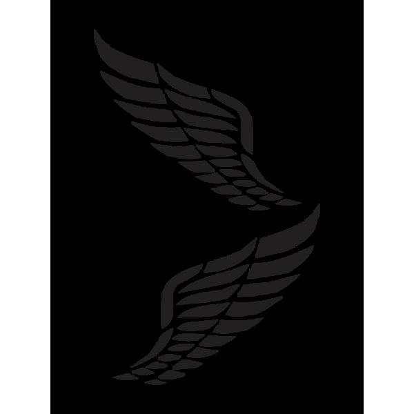 Auto nálepka - Anjelské krídla