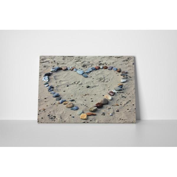 Srdce v piesku