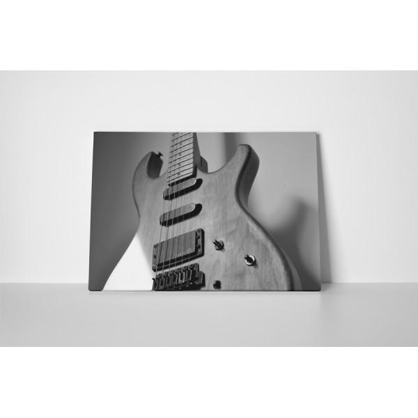 Čiernobiela elektrická gitara