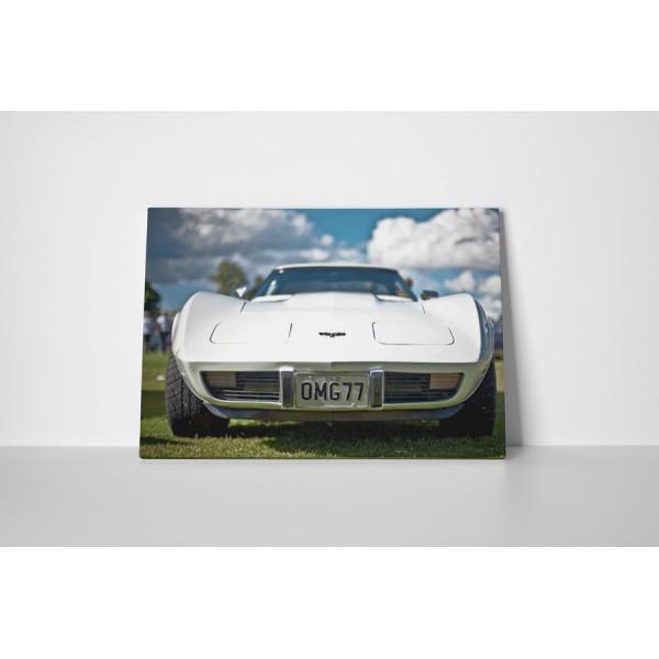 Corvette biely