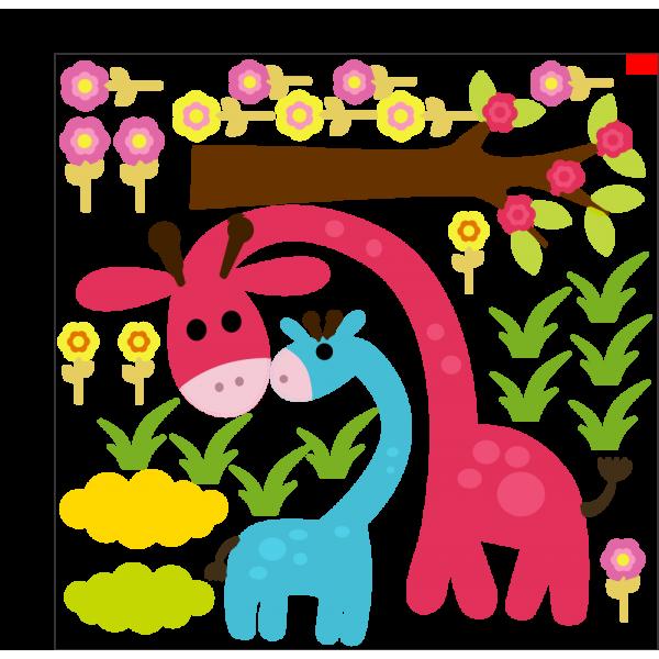 Farebné žirafy
