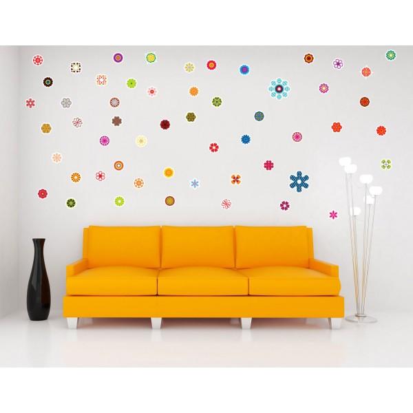 Drobné kvety - Farebný nálepkový balík