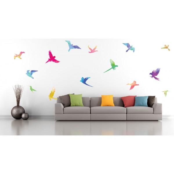 Color-birds - Farebný nálepkový balík