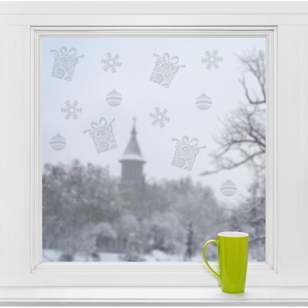 Dekorácie okien - vianočné motívy