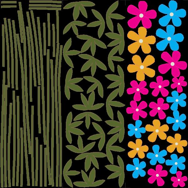Lúčne kvety - Farebný nálepkový balík