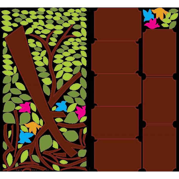 Rodinný strom - Farebný nálepkový balík