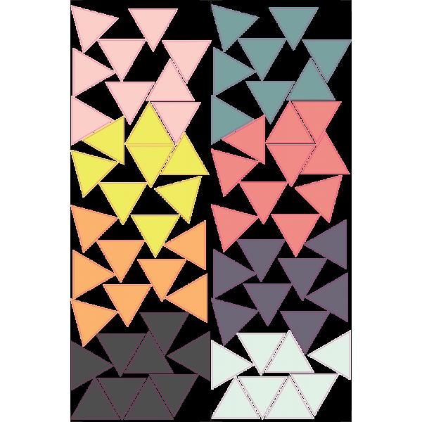 Mini pyramídy - Farebný nálepkový balík