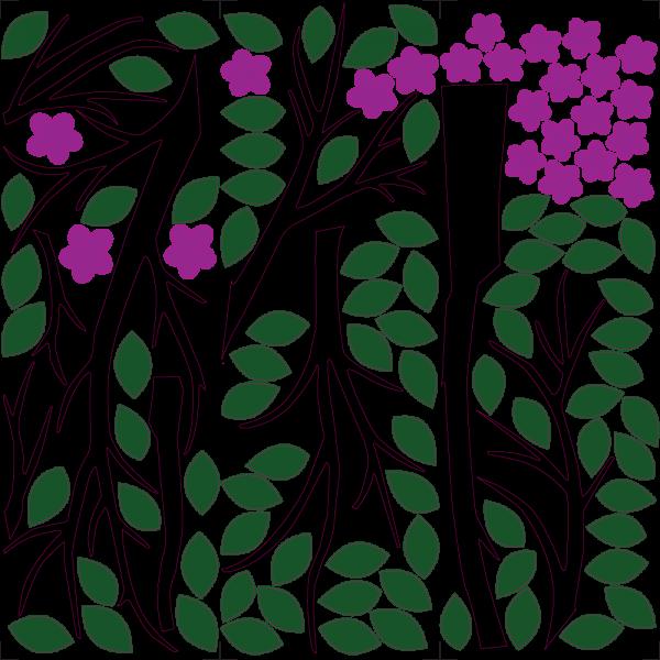 Strom s fialovými kvetmi