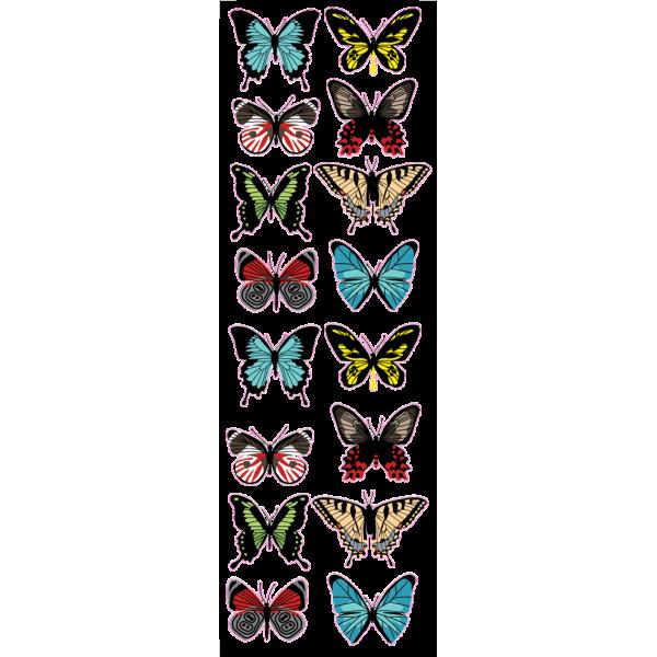 Jarné motýle - Farebný nálepkový balík