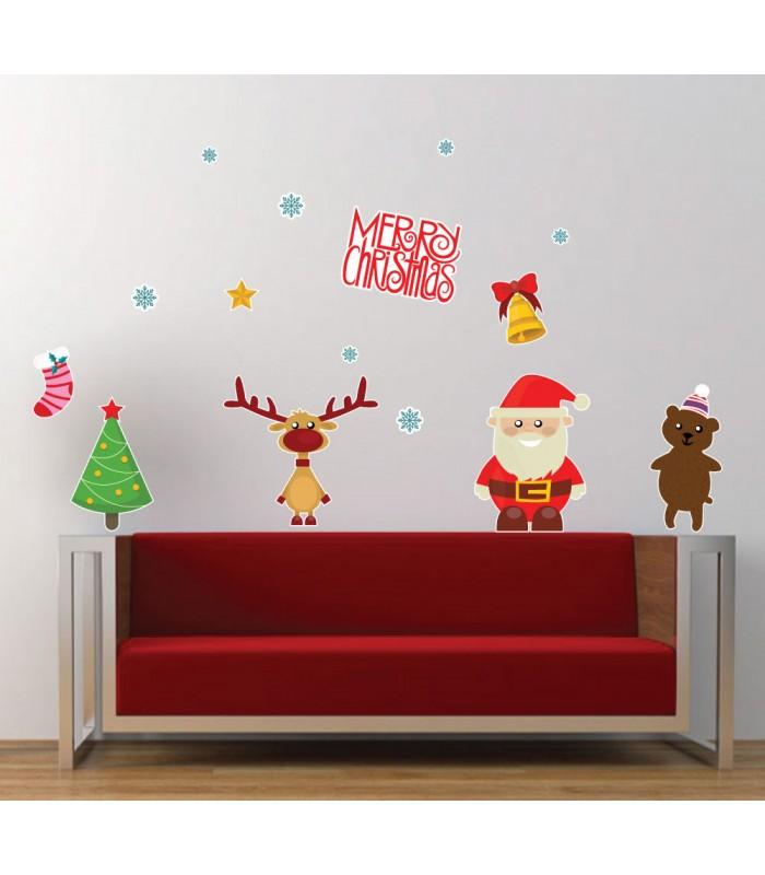 Santa a Rudolf - vianočný nálepkový balík