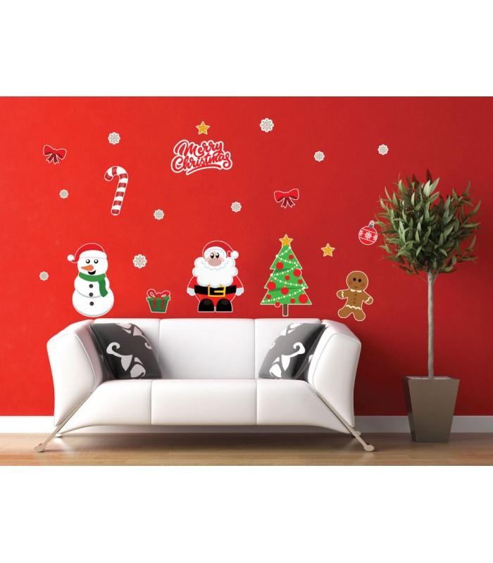 Snehuliak a Santa Claus - vianočný nálepkový balík