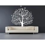 Mystický strom života 188x200cm, Tmavo-fialová (A1589)
