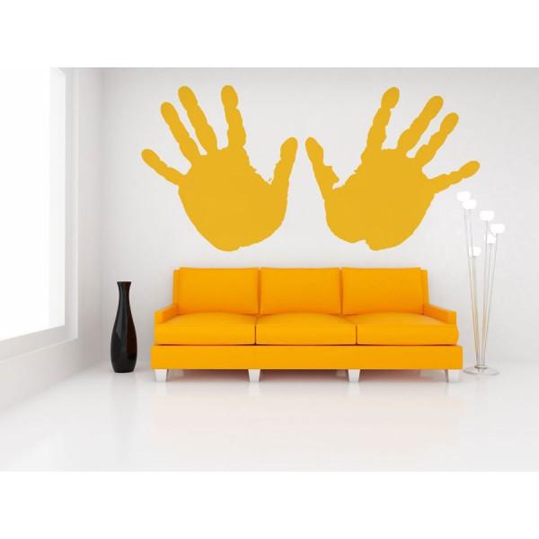 Samolepky na stenu - Ruky, farba čierna, 91x45cm (A1602)