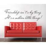Nálepka na stenu - Friendship - Priateľstvo