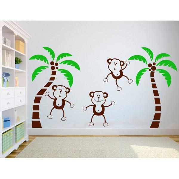 Vtipné opičky - viacfarebné