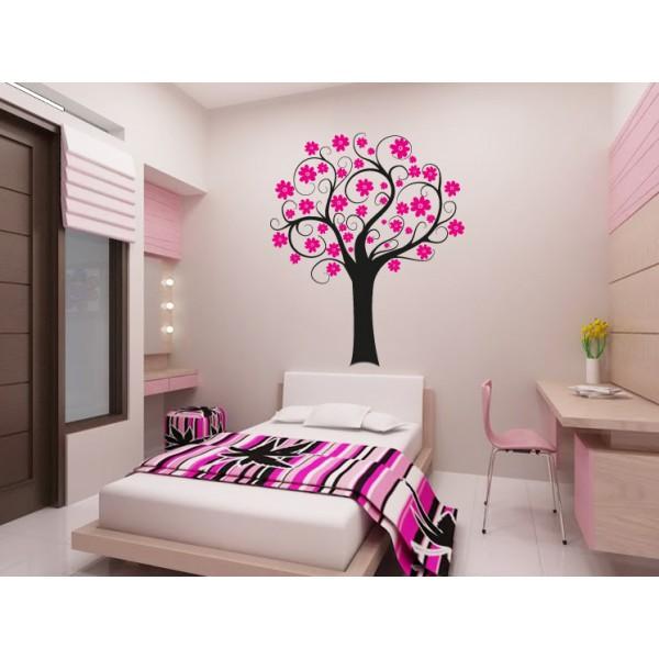 Strom s kvetinami (viacfarebný)