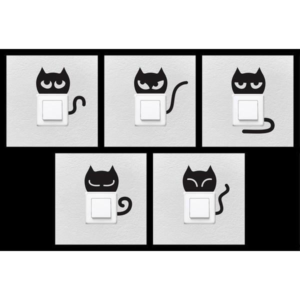 Balíček s nálepkami pre zásuvky a spínače - mačiatka
