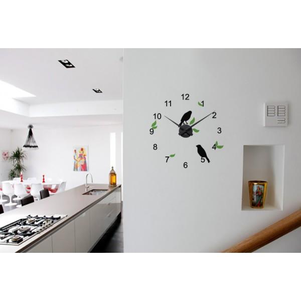 Škovránky + nástenné hodiny (viacfarebné)