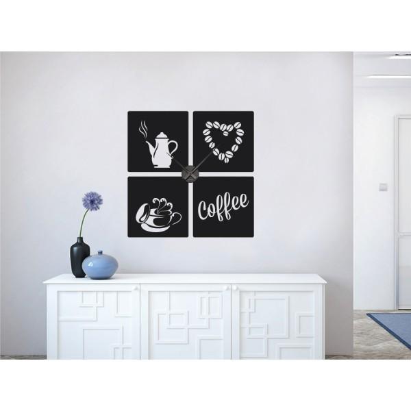 Coffee love + nástenné hodiny