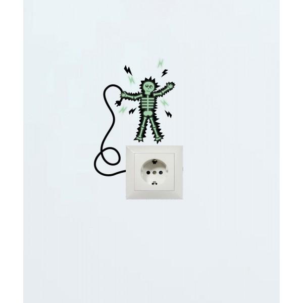 Balíček s nálepkami pre zásuvky a spínače - Smrť spôsobená elektrinou