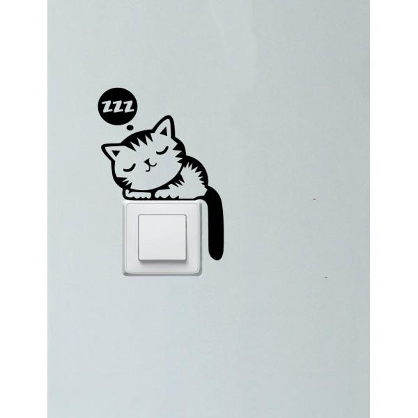 Balíček s nálepkami pre zásuvky a spínače - Ospalé mačky
