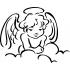 Anjel v oblakoch