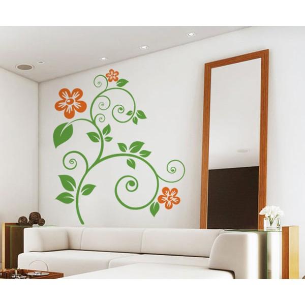 Listy a kvety (viacfarebné)