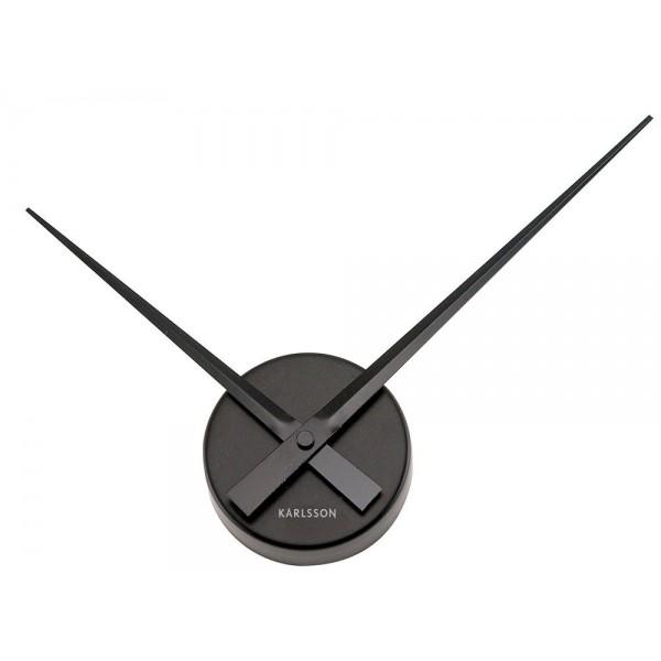 Nástenné hodiny Karlsson - Little Big Time Mini, čierne