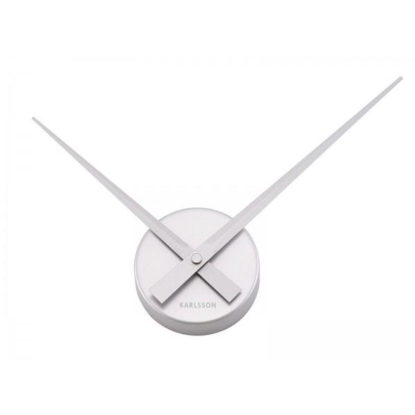 Nástenné hodiny Karlsson - Little Big Time Mini, strieborné