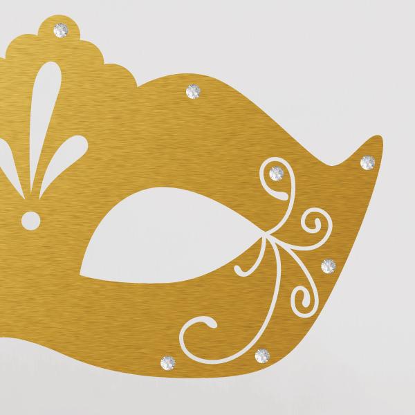 Premium nálepka - Maska + kryštály Swarovski