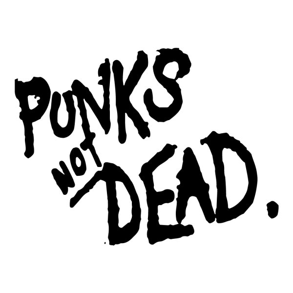 Punks not dead!, farba čierna, 72x55cm (A1597)