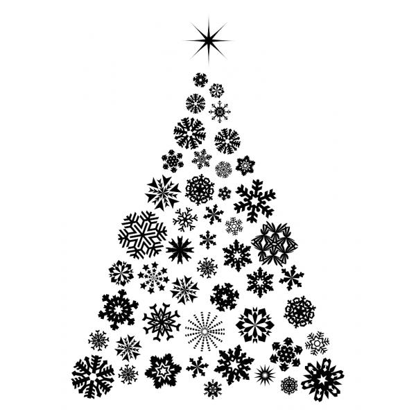 Vianočný strom zo snehových vločiek