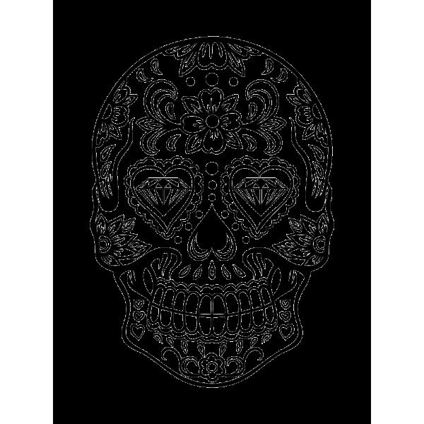 Mexická lebka - diamant