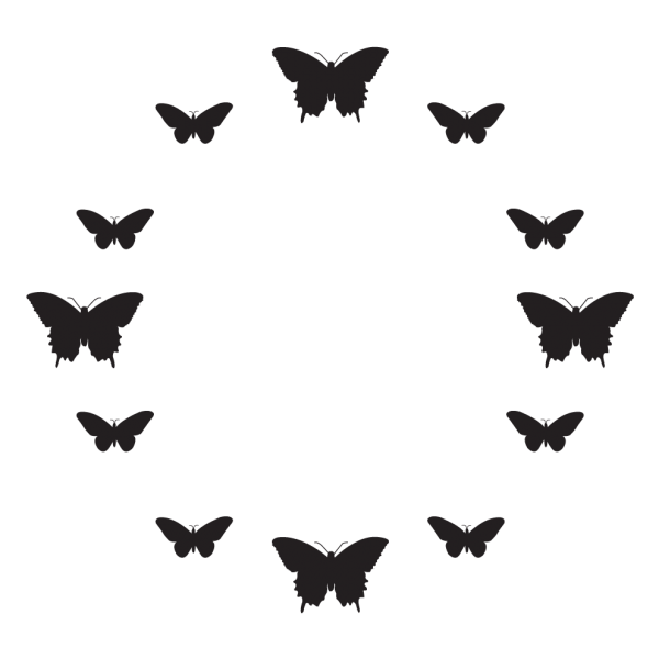 Hodiny s motýľmi