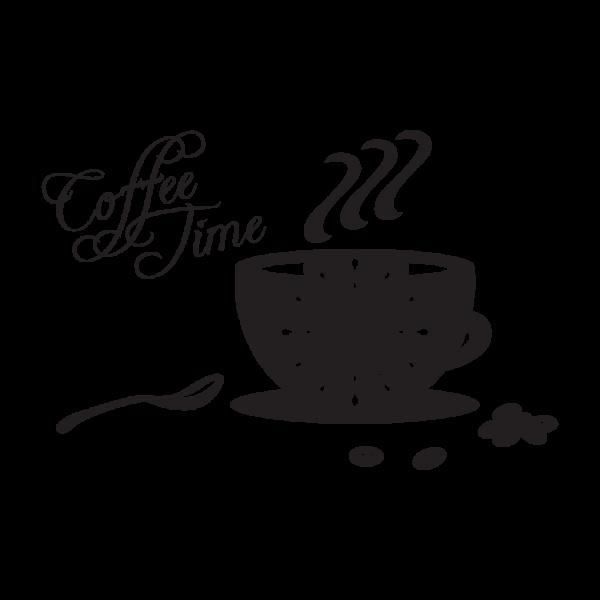 Coffee Time + nástenné hodiny