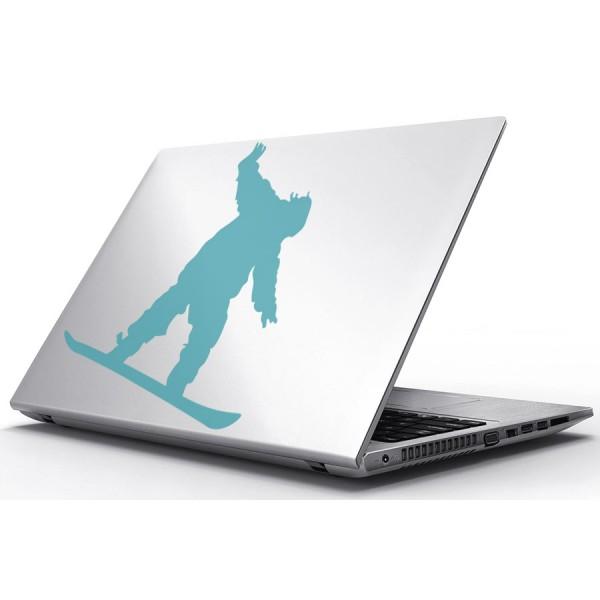 Nálepky pre Notebook - Chlapec a snowboard