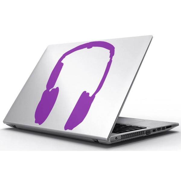 Nálepky pre Notebook - Hudba cez slúchadlá