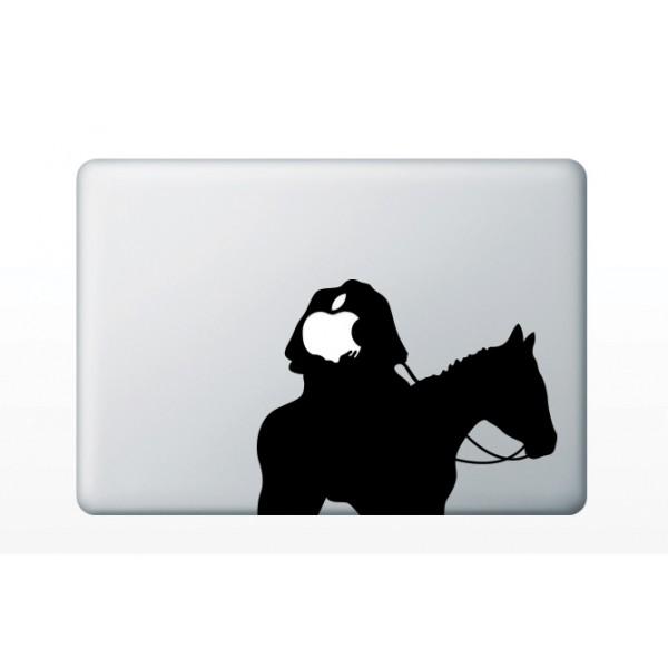 Nálepky pre MacBook - Anonymný jezdec